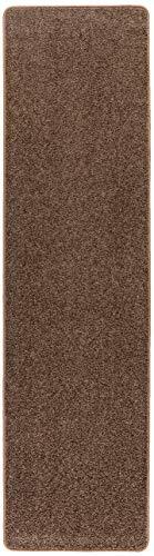 Misento Shaggy Hochflor Teppich für Wohnzimmer Langflor, schadstoff geprüft 100% Polypropylen, braun 67 x 250 cm