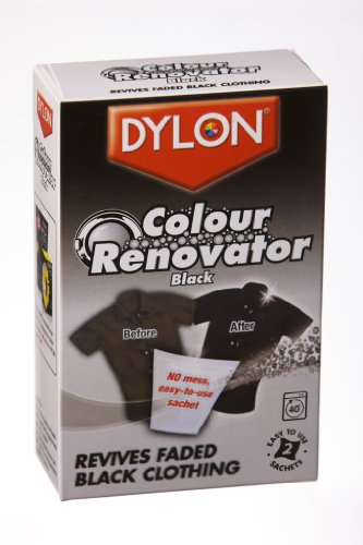 Dylon Colour Renovator Black Fabric Clothes Washing Dye Household Cleaning