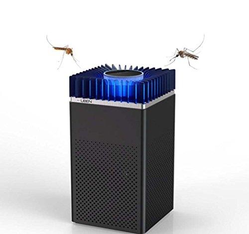 GJX De nieuwe muggenlamp voor de kamer Smart Home. Mosquito Killer insectenafweer, ABS, tegen muggen, online/woonkamer, USB, zwart en wit (kleur: zwart)