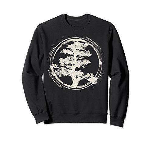 Geschenkidee des japanischen Zen-Meisters Bonsai-Baum Sweatshirt