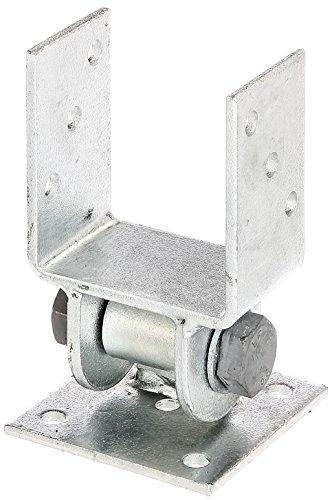 GAH-Alberts 208714 Pfostenträger mit beweglichem Oberteil, zum Aufschrauben - feuerverzinkt, lichte Breite: 91 mm
