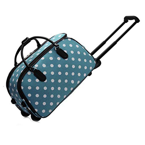 LeahWard XL Holdall Travel Luggage Bags Trolley Baggage with Wheels Holiday Gym Weekend Over Night Bags 309 (Teal)