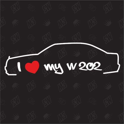 speedwerk-motorwear I Love My Sticker für Mercedes Benz W202 - Bj 93-95