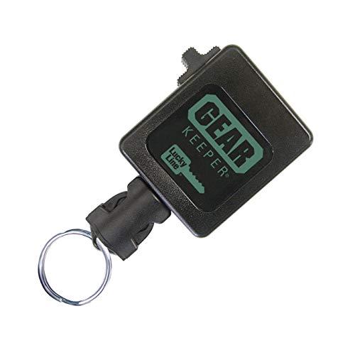 Lucky Line High Force Gear Keeper, Industriestärke, Schlüssel-Retraktor mit 106,7 cm Kevlar-Schnur, zum Aufstecken, 1 Stück pro Packung (47301), schwarz, hohe Kraft – hält 15–28 Schlüssel oder 340 g