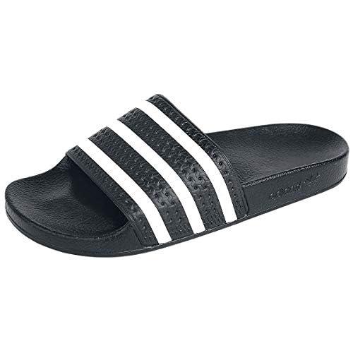 Adidas Originals Adilette - Ciabatte da uomo, (nero/bianco/nero.), 44 2/3 EU