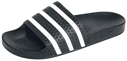 Adidas Adilette, Unisex-Erwachsene Badeschuhe, Schwarz (Black/white/black), 39 EU 6 UK