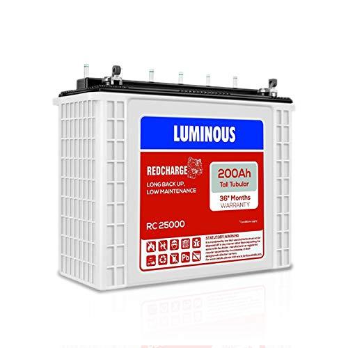 LUMINOUS RC 25000 200AH TUBULAR BATTERY