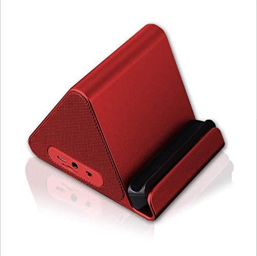 Kaper Go Tragbare Drahtlose Bluetooth-Lautsprecher Mini Bluetooth-Lautsprecher 1000mAH Hohe Kapazität Für Home Travel Beach Perfekt Für Kinder, Party, Schlafzimmer (Farbe: ROT) (Color : RED)