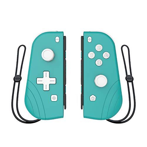 Drahtloser Joy-Con-Controller für Nintendo Switch, Proslife L / R Joycon Switch Remote-Gamepad mit Armband (Cyan)