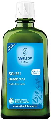 WELEDA Salbei Deodorant Nachfüllflasche, natürlich frisches Naturkosmetik Deo mit ätherischen Ölen, wirkt desodorierend ohne Poren zu verschließen, ohne Aluminiumsalze, Nachfüllpackung (1 x 200 ml)