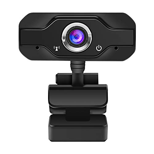 Moonvvin HD Webcam Desktop Laptop USB Web Camera 720P Web Cam CMOS Sensor with Built-in Microphone for Video Calling