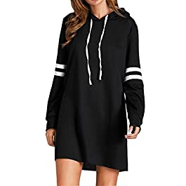 Flying Rabbit Women's Hoodies Sweatshirt Pullover Sweaters Long Sleeve Pullover Jumper Long Tops Pullover Dress Sweatshirt