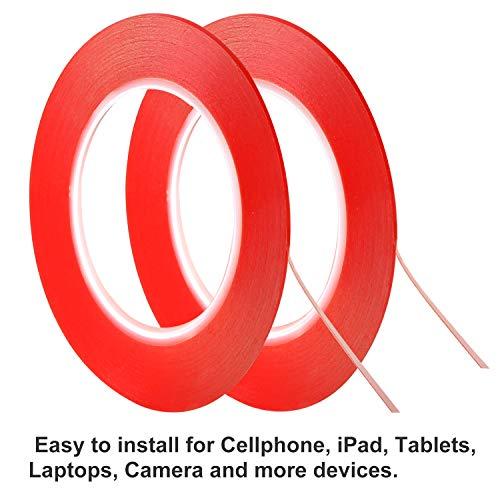 Kaisiking 2mm / 3mm x 25M Phone Repair Tape LCD Touch Screen Repair Tape Phone Adhesive Tape LCD Screen Adhesive Tape for Cell Phone, iPad, Tablets, Laptops, Camera