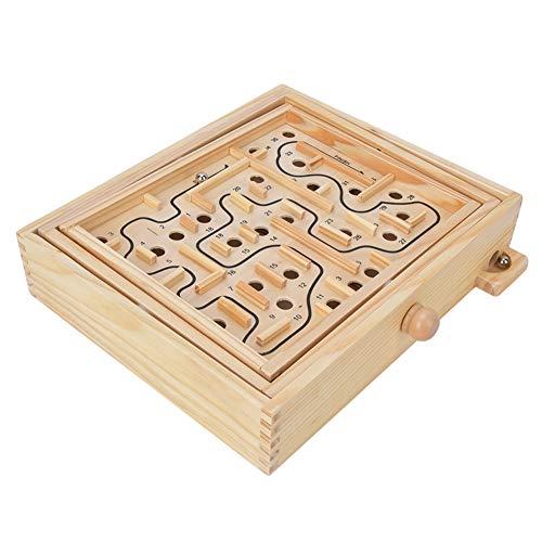 Juguete de laberinto de madera, juego de laberinto del juego de mesa de entrenamiento cerebral Juguetes para la educación de la primera infancia regalos de vacaciones