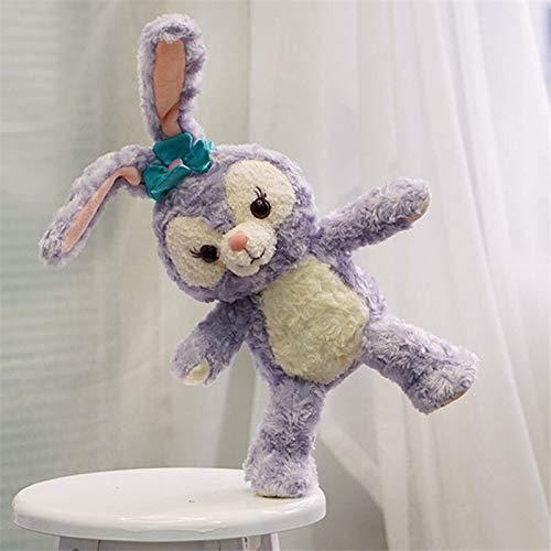 Peluche lapin Stella Lou de Stella 53 cm - Contient du fil de fer - Cadeau idéal pour enfants - Couleur : violet