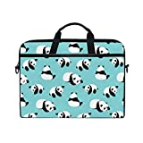 Cute Panda 15-15.4 inch Laptop Sleeve Case Notebook Waterproof Shoulder Bags for Men
