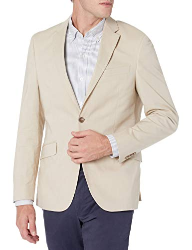 Kenneth Cole Unlisted Men's Stretch Chambray Blazer, Tan, 42L