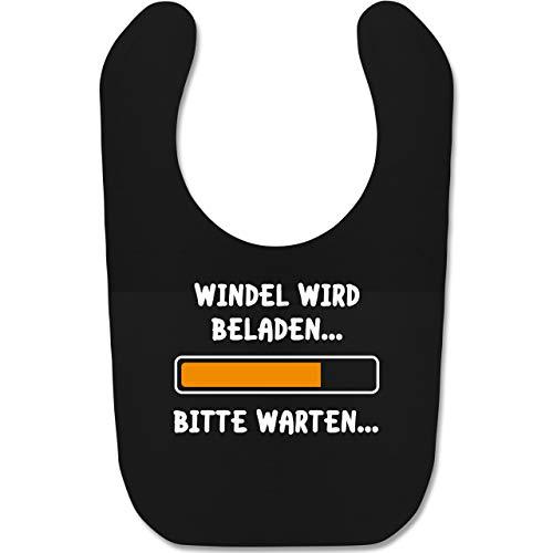 Shirtracer Statement Sprüche Baby - Windel wird beladen - Unisize - Schwarz - babylatz mit spruch - BZ12 - Baby Lätzchen Baumwolle