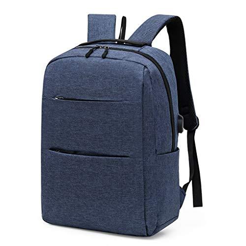 Yihaifu 3pcs Waterproof Ox Cloth USB laptop backpack Backpack with Messenger Bag Handbag External USB for Traveling Business,Blue