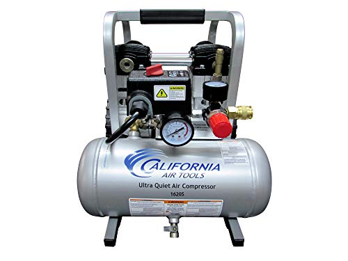 California Air Tools 1620S Ultra Quiet & Oil-Free 2.0 Hp, 1.6 Gal. Steel Tank Air Compressor