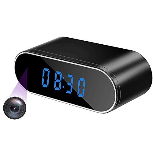 HEN'GMF Cámara espía Reloj Despertador Cámara Oculta WiFi HD 1080P Cámara niñera...