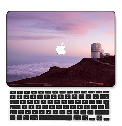 GangdaoCase Plastic Ultra Slim Light Hard Shell Case Cut Out Design Compatible New MacBook Pro 15 inch with Touch Bar/Touch ID with UK Keyboard Cover A1707/A1990 (Pink series 0525)
