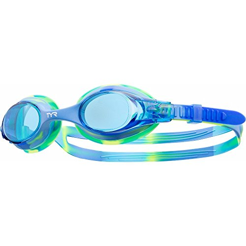 TYR Youth Tie Dye Swimple Goggles, Blue/Green
