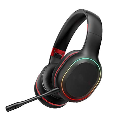 TEMP Casque sans Fil Bluetooth Casque de Jeu, Reconnaissance Audio spéciale pour Les Jeux Mobiles E-Sports Subwoofer Isolation Acoustique Intelligente Compatibilité élevée
