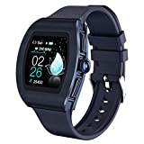 Sanag Smart Watch,Smart Watch for Android Phones with Heart Rate,Blood Pressure, Blood Oxygen, IP68 Waterproof Pedometer Smartwatch for Women with Sleep Tracker, Steps, Music, Weather Forecast (Blue)