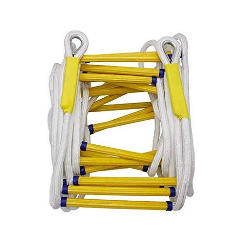 WSJ Échelle en corde pour échappement d'incendie / escalade extérieure / échelle d'évacuation de haut bâtiment / échelle d'évacuation d'urgence - Facile à déployer (taille : 10 m), 20m/66ft