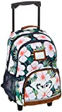 Roxy Girls Happy Ending Sac à dos à roulettes - - Indigo tendance Grange Fleur., Medium