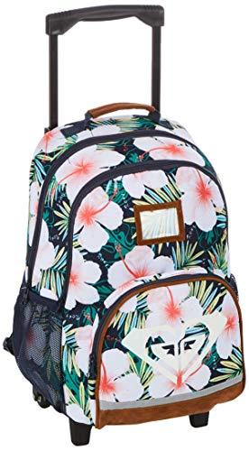 Roxy Girls Happy Ending Trolley School Backpack, Mood Indigo Grange Fleur, Medium