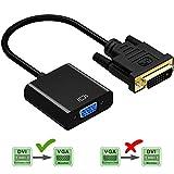DIGMALL 1080P Actif DVI-D Adaptateur Mâle à VGA Femelle, M / F DVI D 24 + Convertisseur Vidéo 1 à VGA pour...