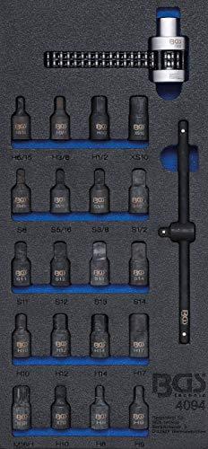 BGS 4094 | Insert de servante d'atelier 1/3: Intérieurs de cuves à huile / clé à chaîne de filtre à huile, 22 pièces