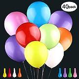 LED Luftballons 40 Stücke LED Leuchtende Ballons Bunte Ballons mit 8 Blitzlichtern Bunt schöne Ballons für Hochzeit Weihnachten Geburtstag Fasching Valentinstag Party Deko