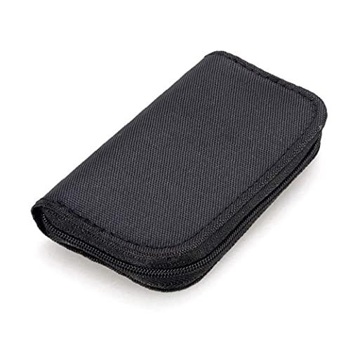 RRunzfon 22 Slots Speicherkarten-Tasche wasserdicht SD-Kartenhalter-Tragetasche für Micro SDHC SDXC TF SIM-CF-Karte-BlackRigid Handy elektronisches Zubehör und Teile