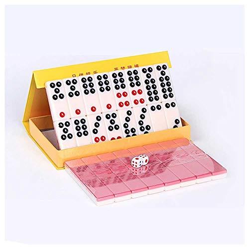 SOAR Tablero de ajedrez PAI Gow Set, China PAI Gow Casino Game Party, PAI Gow Tarjetas Grandes para Frotar Las Manos para El Hogar para Adultos, 32 Hojas (Color : Pink)