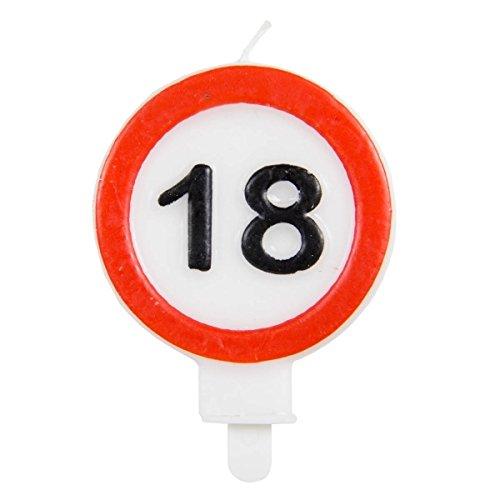 Candela con segnale stradale 18 anni