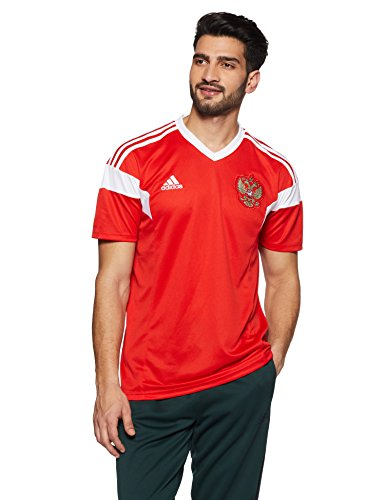 adidas Herren Russland Heim Replica Trikot, Red/White, M