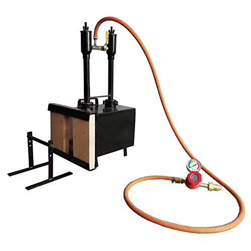 Portable Propane Double Burner with One Side Brick Door Knife & Tool Making Farrier Forge