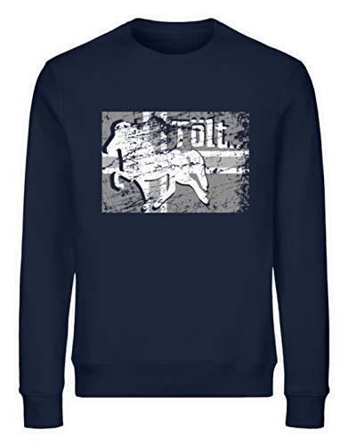 Icelandic Horse: Islandpferd Merch - Unisex Organic Sweatshirt -M-Marineblau