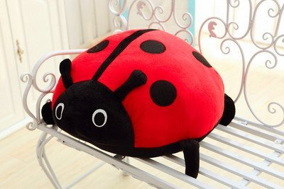 Extra Soft Comfortable Cuddle Ladybird Pillow, 45*36cm, for Home Decoration, Living Room, Car, Lovers Gift, Xmas Best Gift by Christmas Gift