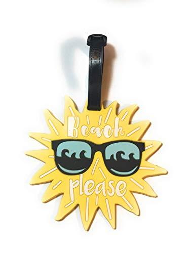 Fizzybutton Gifts'Beach Please' Sun with Sunglasses Luggage tag