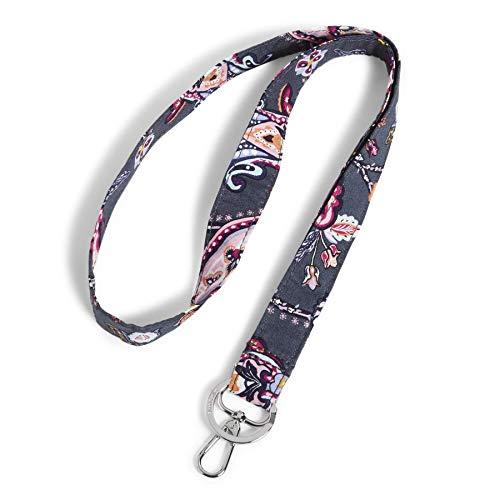Vera Bradley Damen Signature Cotton Wide Lanyard Schlüsselanhänger, Felicity Paisley, Einheitsgröße