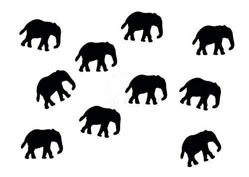 Miniblings Enfant à Repasser Correctifs 34mm Lisse éléphant Patch I Patches correctifs à Repasser Repassage, Color:Schwarz