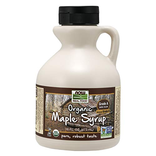 NOW Foods Organic Maple Syrup Grade A Dark Color formerly Grade B 16Ounce