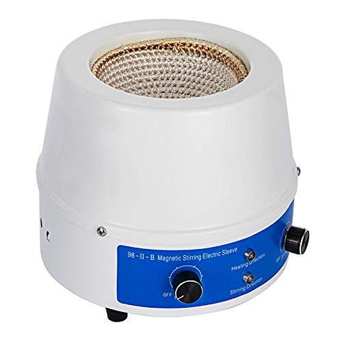 BananaB labor heizmantel 500ml heizmantel labor rundkolben 500ml Heizhaube 250W Heating Mantle Stirring 0~1400 RPM Heating Mantle Sleeves für Aufheizen und Rühren von Flüssigkeiten (500ML)