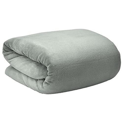 Beautissu Manta para sofá y Cama XXL Aurelia Cubre Sofa Manta Suave y cálida220 x 240 cm Microfibra Forro Polar Coral Oeko-Tex Gris Claro