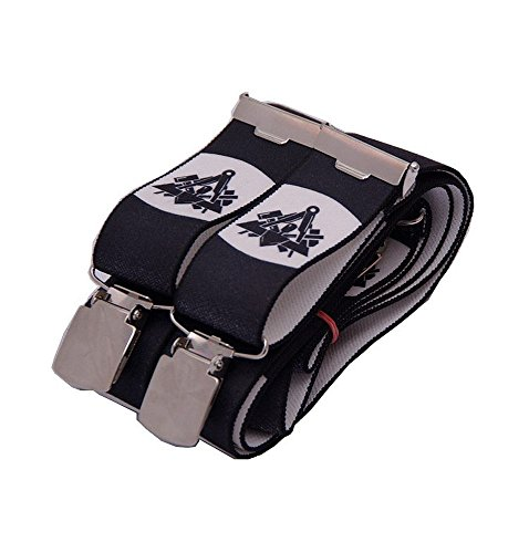 OYSTER Hosenträger schwarz mit Emblem verschiedene Gewerke (Maurer)