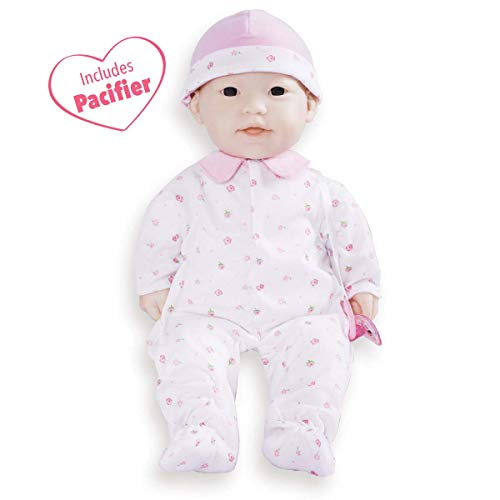JC Toys, La Baby Asian 16-inch Washable Soft Body Pink Play Doll - For Children 2 Years Or Older, Designed by Berenguer by JC Toys